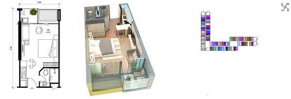 Thiết kế chi tiết căn 32 m2 tại dự án Wyndham Lynn Times Thanh Thuỷ