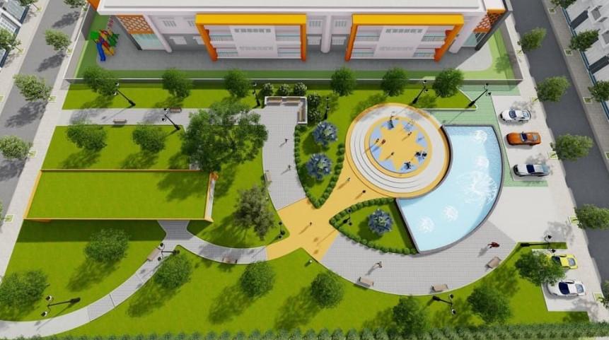 Phối cảnh công viên cây xanh tại dự án Golden Future City