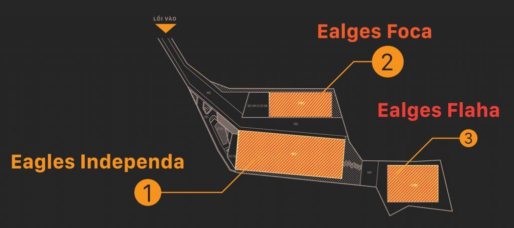 Mặt bằng phân khu dự án khu du lịch nghỉ dưỡng Eagles Valley Residences