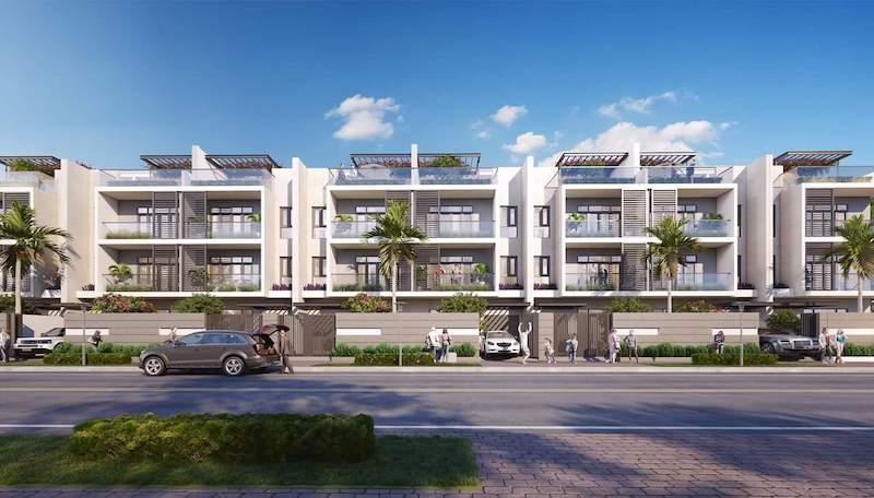Phối cảnh các căn nhà phố thương mại tại dự án An Phú New City