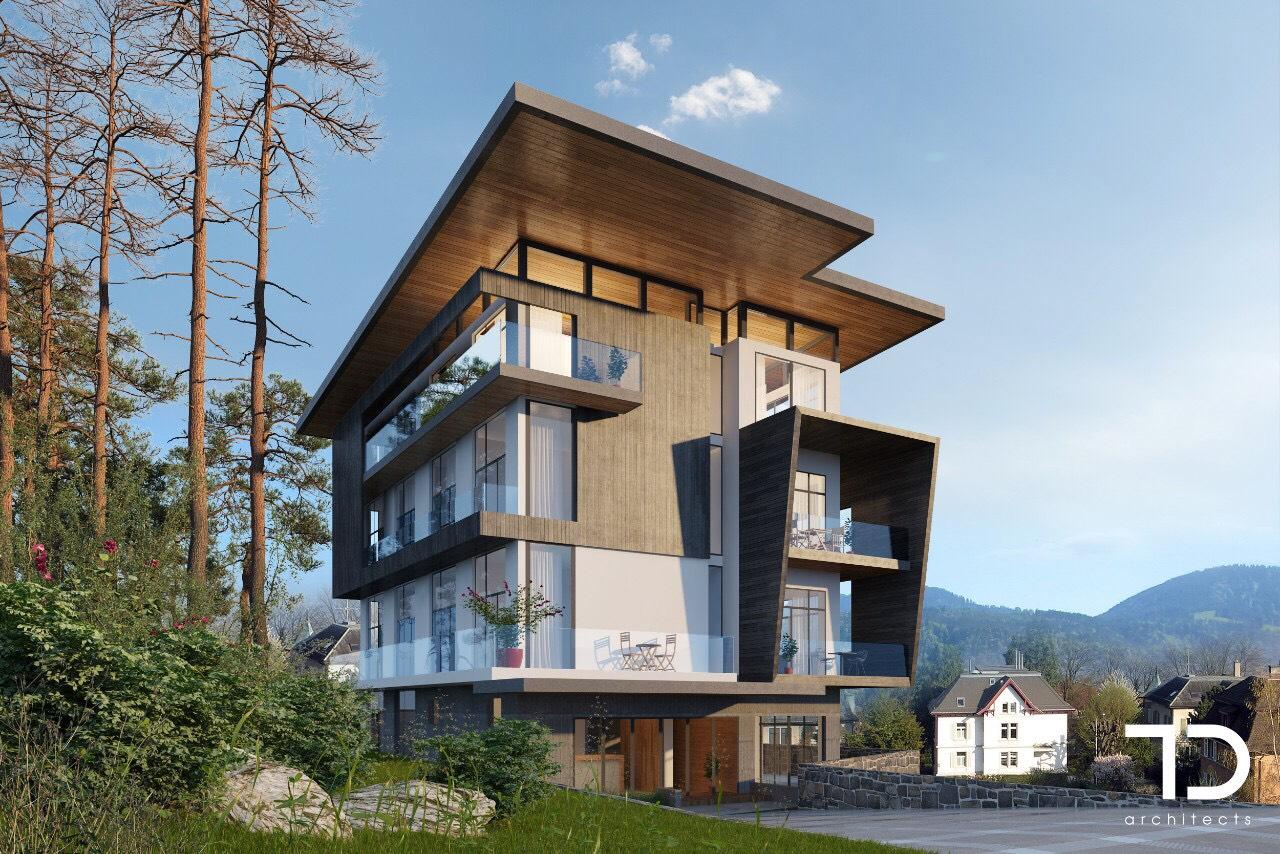 Phối cảnh tòa nhà tại dự án Eagles Valley Residences