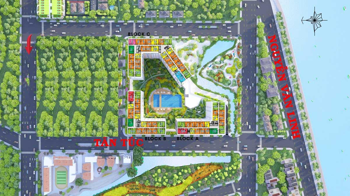 Mặt bằng tổng thể dự án căn hộ West Gate Park