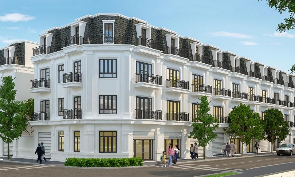 Phối cảnh các căn nhà liền kề tại dự án Việt Phát South City