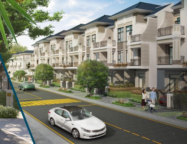 Phối cảnh nhà phố tại dự án Verosa Park Quận 9
