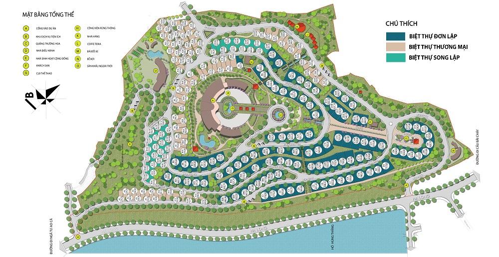 Mặt bằng tổng thể dự án khu biệt thự Monaco Hạ Long