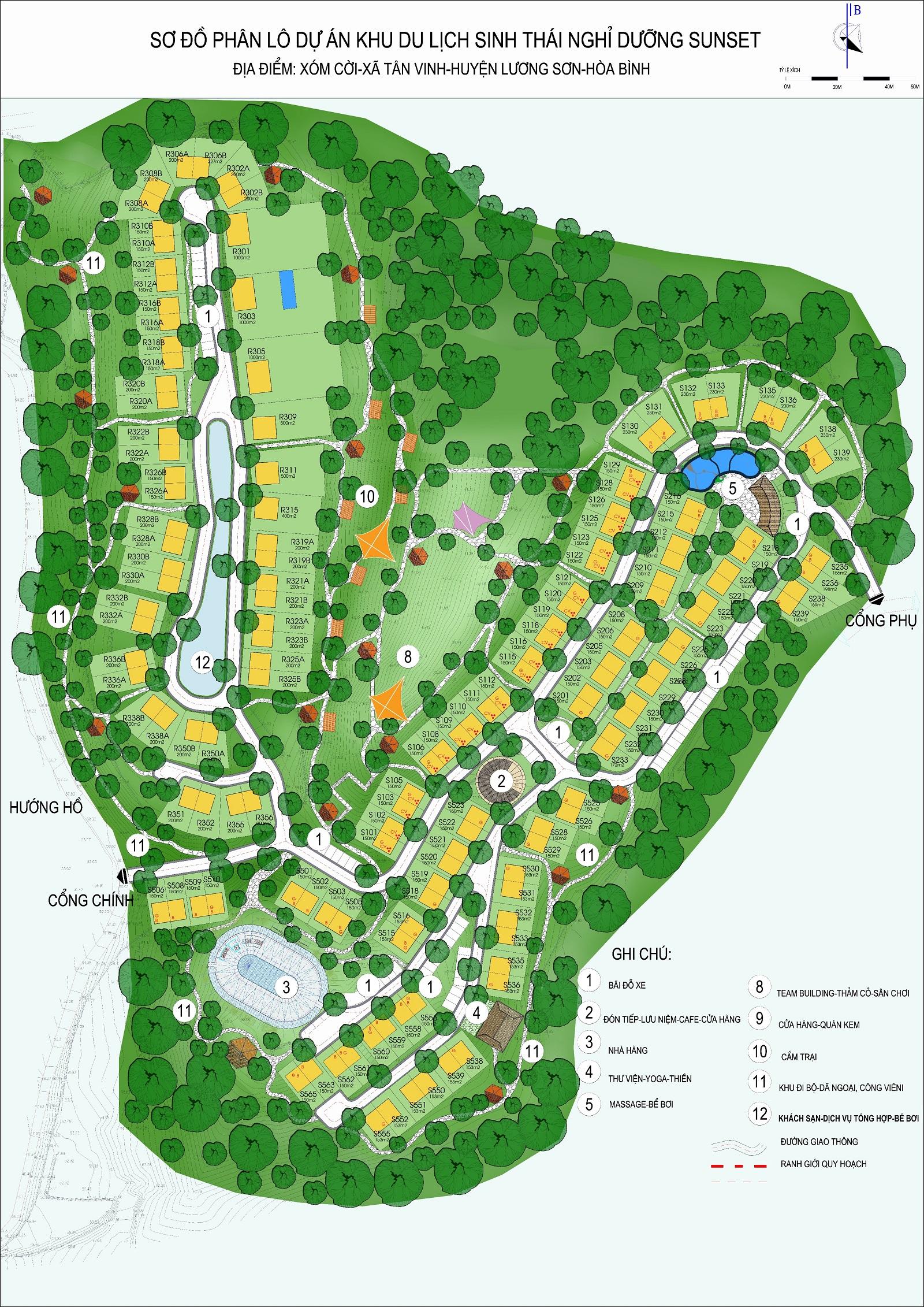 Mặt bằng tổng thể dự án khu du lịch sinh thái nghỉ dưỡng Panorama Hill