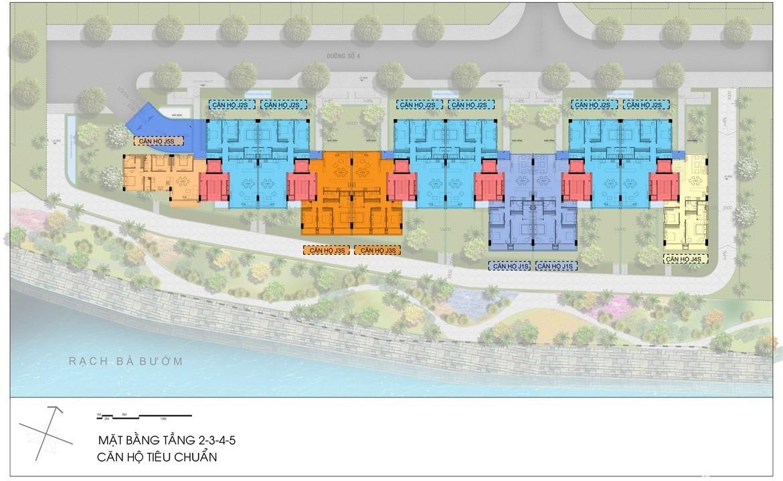 Mặt bằng tầng điển hình dự án biệt thự trên không Panomax River Villa