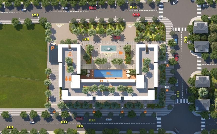 Mặt bằng căn hộ Phú Tài Residence Quy Nhơn