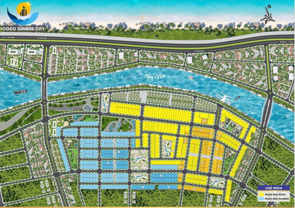 Mặt bằng khu dự án khu đô thị Coco Sunrise City