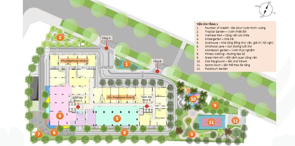 Mặt bằng tổng dự án căn hộ Ricca
