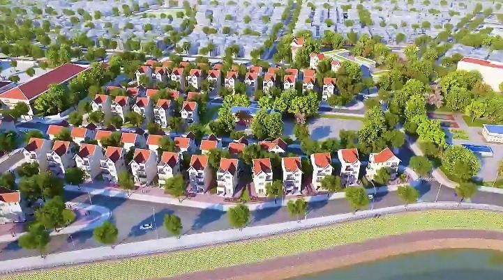 Phối cảnh các căn nhà phố tại dự án khu đô thị Royal Riverside City
