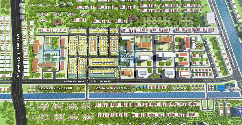 Mặt bằng phân lô dự án khu dân cư Vĩnh Thạnh Center