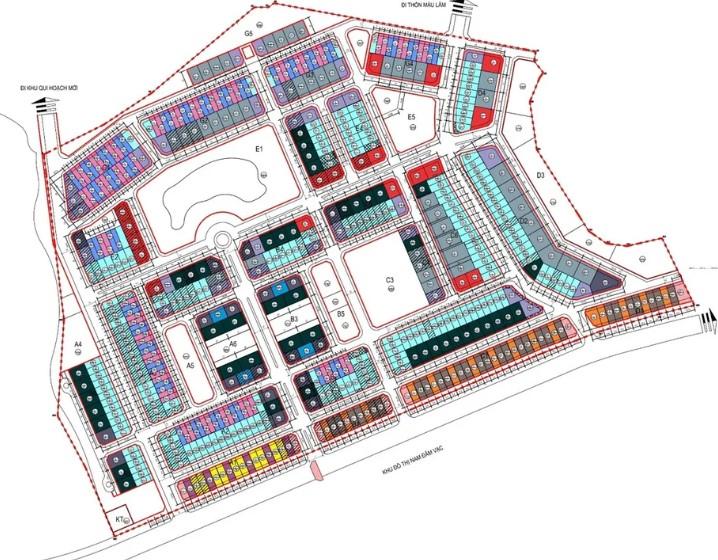 Mặt bằng tổng thể dự án khu đô thị Times Garden Vĩnh Yên