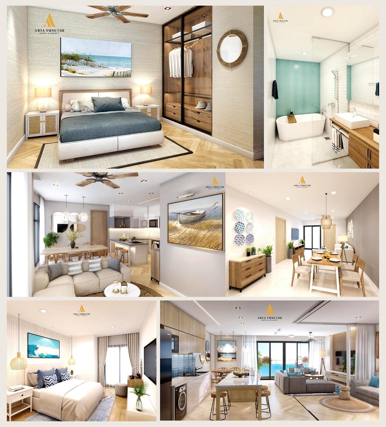 Thiết kế nội thất căn hộ Aria Vũng Tàu