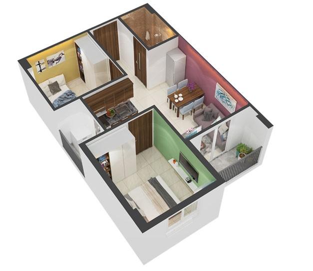 Căn hộ mẫu 45,9 m2 tại dự án nhà ở xã hội Victoria Premium