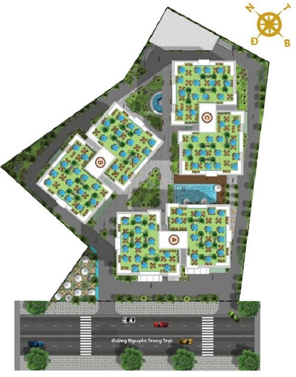 Mặt bằng tổng thể dự án nhà ở xã hội Victoria Premium