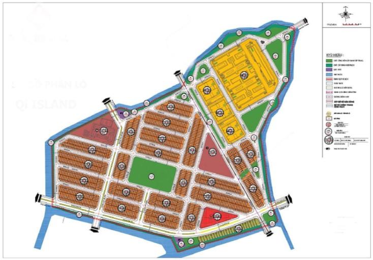 Sơ đồ phân lô dự án khu dân cư Qi Island