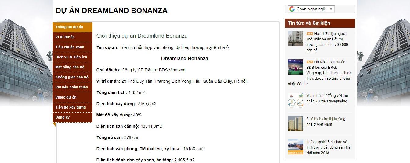Ảnh chụp màn hình trên website của Công ty Cổ phần BIC Việt Nam