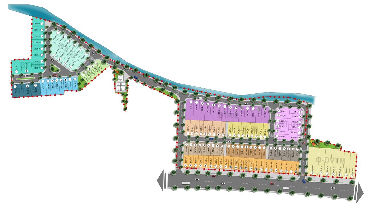 Mặt bằng tổng thể dự án Axis Hồ Tràm