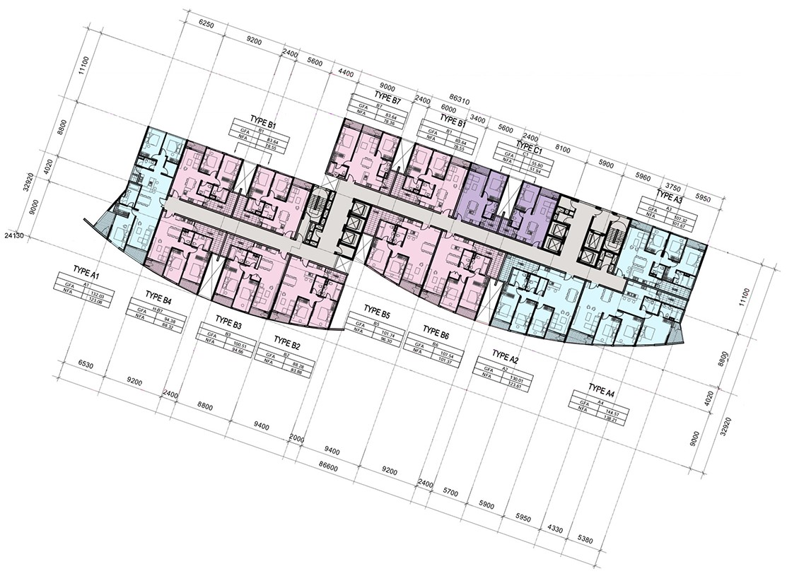 Mặt bằng tầng điển hình dự án căn hộ I-Tower Quy Nhơn