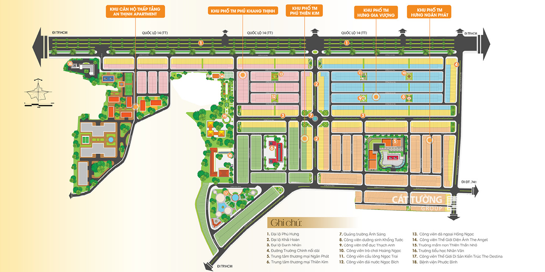 Mặt bằng tổng thể dự án khu đô thị Cát Tường Phú Hưng