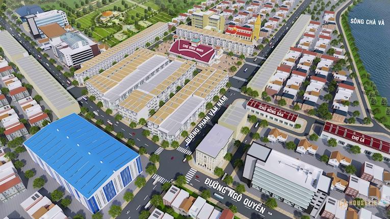 Khu nhà phố thị xã Bình Minh Vĩnh Long