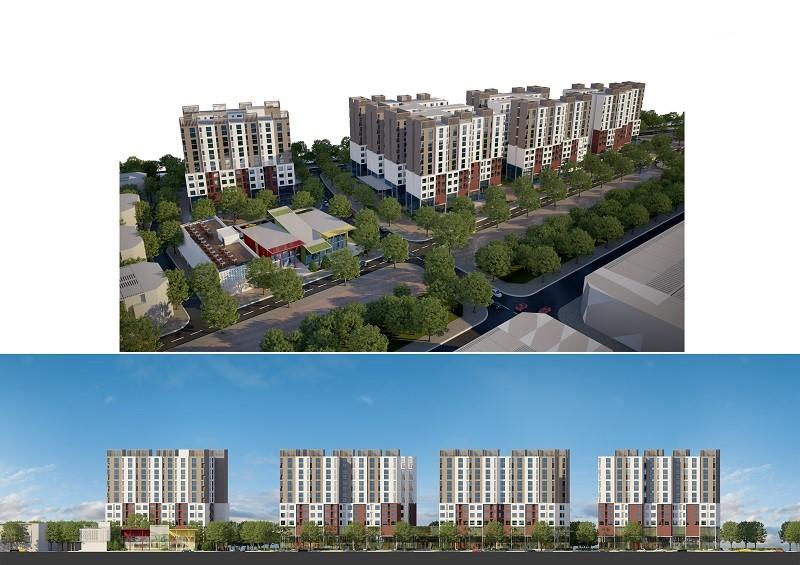 Phân khu căn hộ chung cư - Blue Sky Phố Nối House