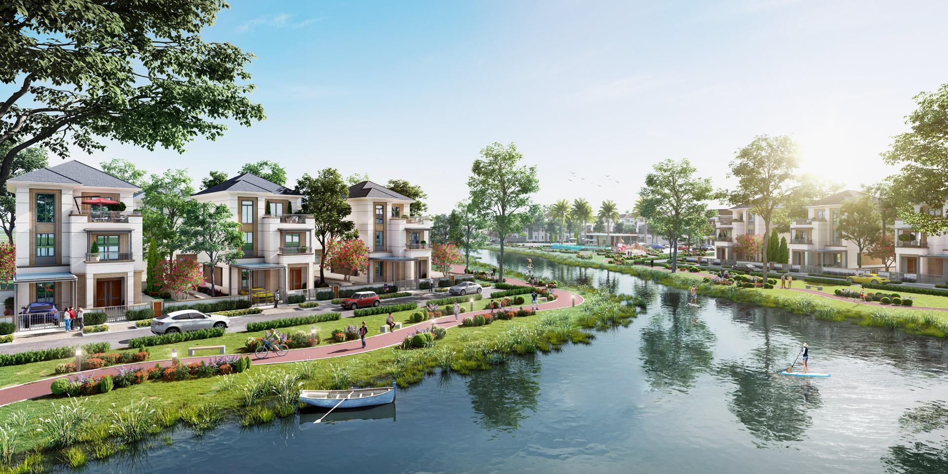 Biệt thự dự án khu đô thị sinh thái Aqua City