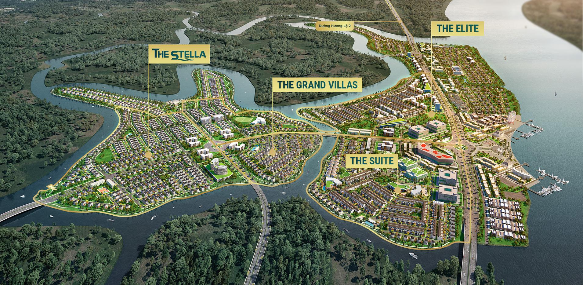 Mặt bằng tổng thể khu đô thị sinh thái thông minh Aqua City