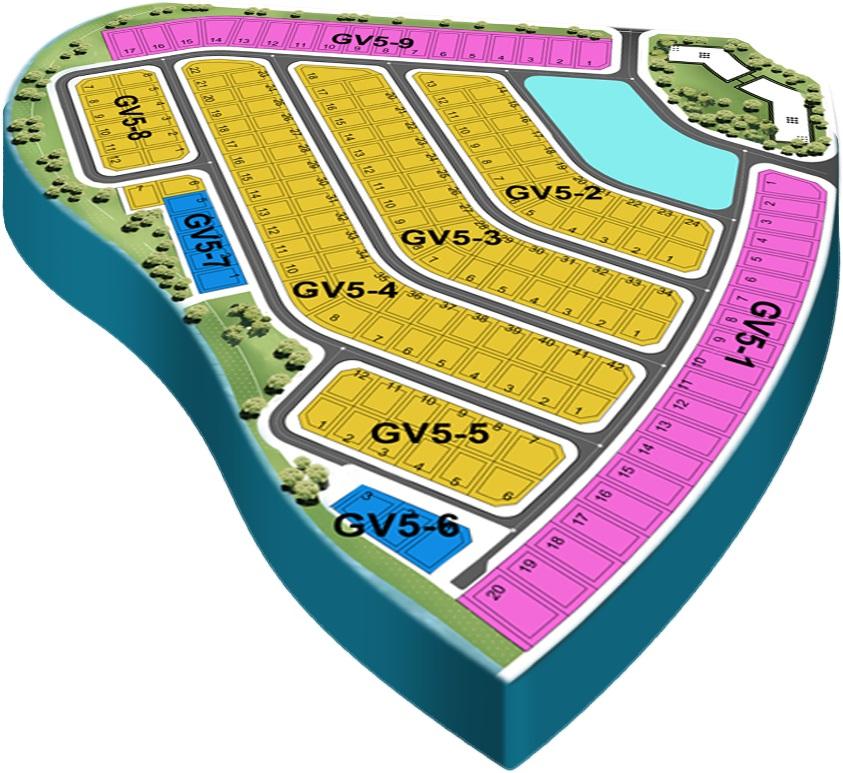 Mặt bằng tổng thể phân khu The Grand Villas