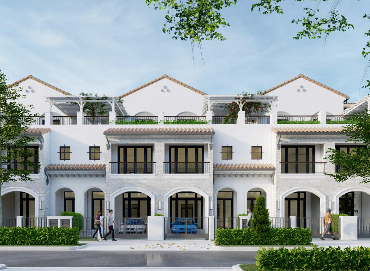 Nhà phố dự án khu đô thị sinh thái Aqua City