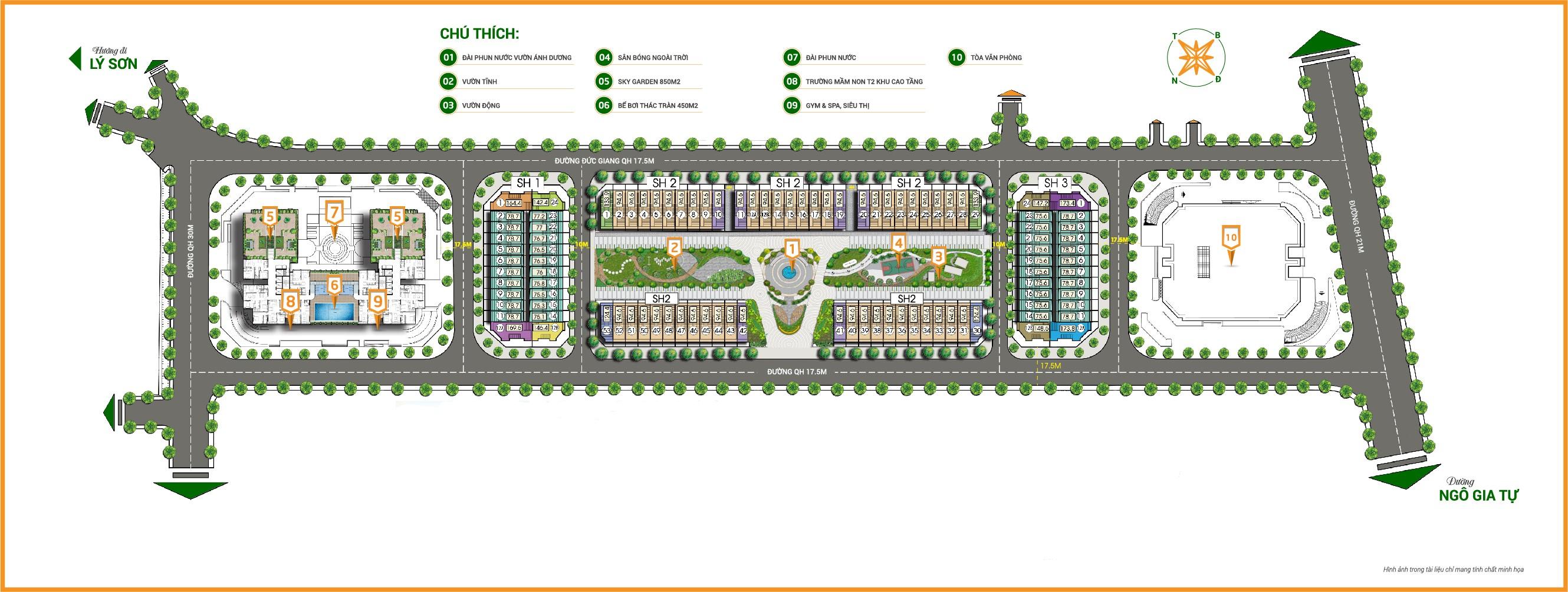 Tiện ích nhà phố thương mại Bình Minh Garden Long Biên