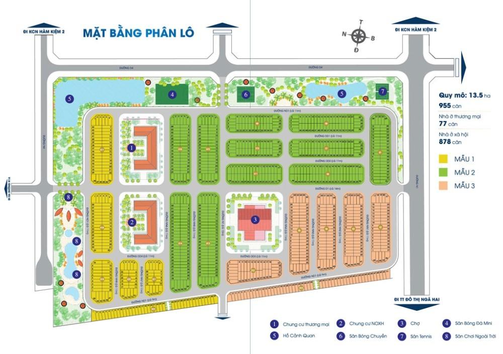 Mặt bằng tổng thể Khu đô thị mới Nam Phan Thiết