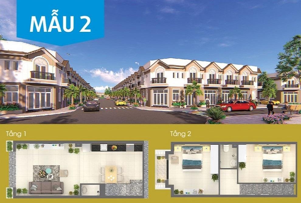 Phối cảnh nhà liền kề Khu đô thị mới Nam Phan Thiết