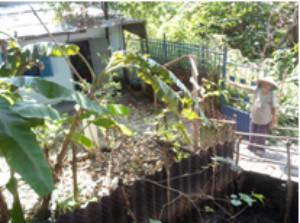 Bà Trần Thị Mười chỉ phần đất và nhà sử dụng hàng chục năm  bị thu hồi trắng