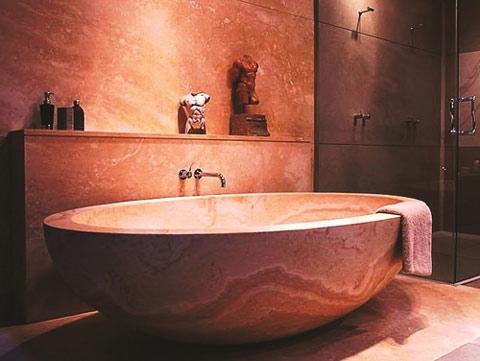 trang trí, màu sắc, nhà tắm, hồng