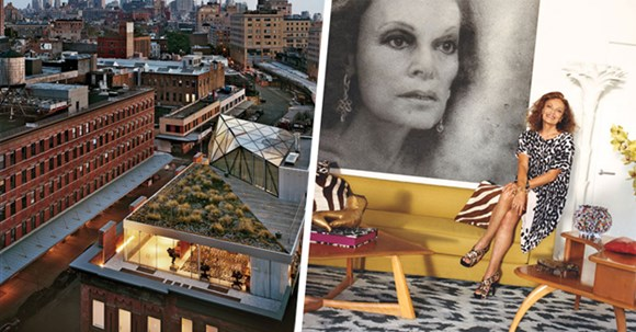Choáng váng với căn hộ sang trọng của NTK Diane von Furstenberg
