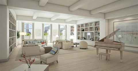 Căn hộ của vợ chồng Chelsea Clinton có 4 phòng ngủ, 6 phòng tắm, một gian phòng chính và một phòng làm việc riêng. Sân thượng của căn hộ có một khoảng đất rộng hơn 20 m2 để trồng trọt. Ngoài ra bên trong còn chứa một nhà kho cá nhân.