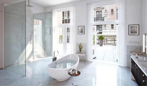 Các phòng bên trong được thiết kế rộng rãi, với không gian thoáng và đầy ắp ánh sáng.
