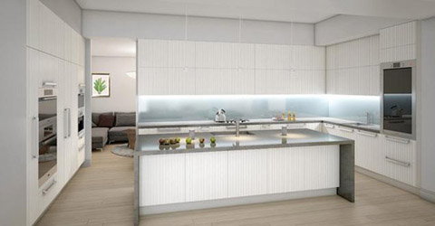 Nhà bếp được thiết kế theo phong cách hiện đại với các dụng cụ và trang thiết bị cao cấp nhất.