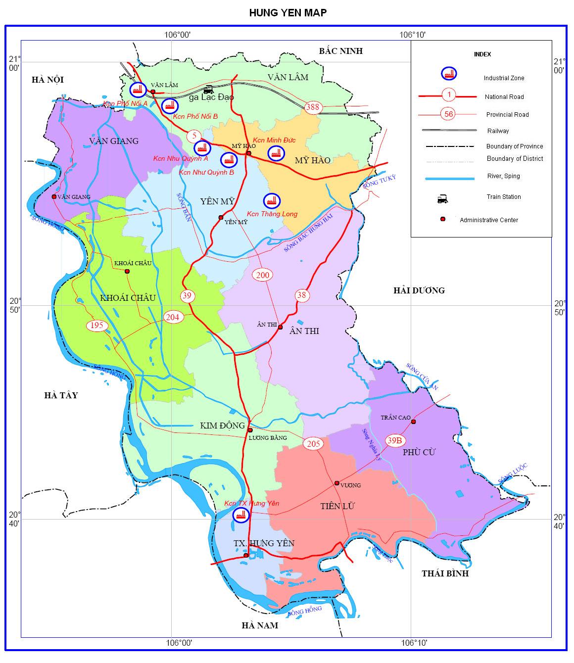 Kết quả hình ảnh cho bản đồ tỉnh hưng yên