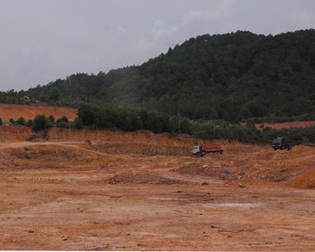 Dự án sân golf của Công ty Thiên An đã được triển khai xây dựng từ đầu năm 2012 đến nay, dù chưa được cho thuê đất.