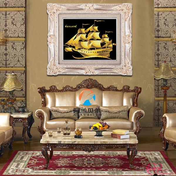 thuyenvang4 1380208928 Treo tranh hợp phong thủy hứng trọn tài lộc cho nhà bạn