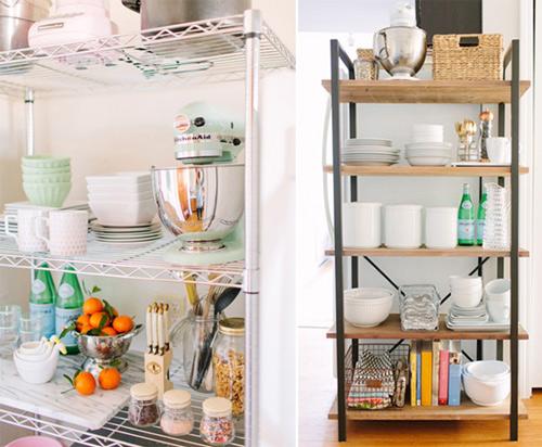 Căn bếp tươi mới với kệ đựng phong cách - 1