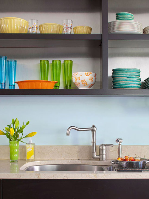 Căn bếp tươi mới với kệ đựng phong cách - 8