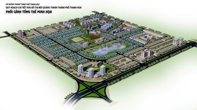 Phối cảnh khu đô thị mới Quảng Thành - dự án dẫn đến vụ kiện