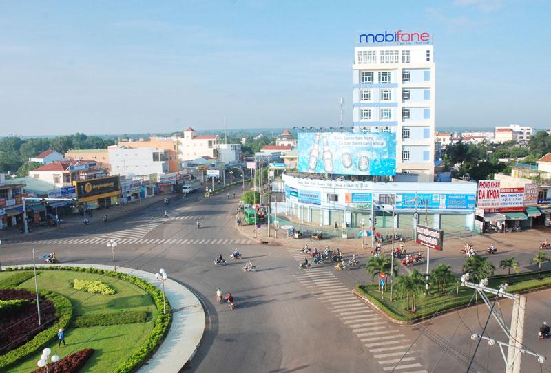 Một góc thị xã Đồng Xoài hôm nay