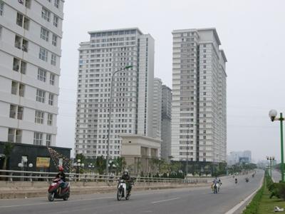 Dòng vốn ngoại vào BĐS đang chuyển từ đầu tư mới sang mua lại dự án dở dang. Ảnh một dự án chung cư tại Hà Đông (Hà Nội).            Ảnh: L.H.V