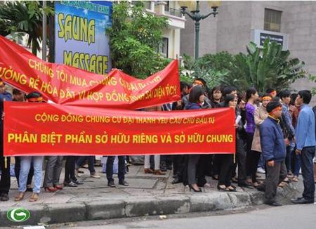 tranh chấp chung cư, cách tính diện tích căn hộ, chung cư Dương Nội, nhà Đại Thanh