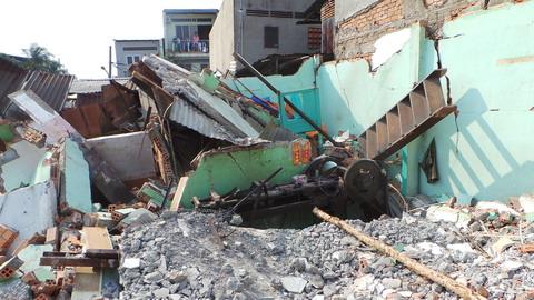 đền bù, đổ sập, nhà, Tân Hóa, hỗ trợ